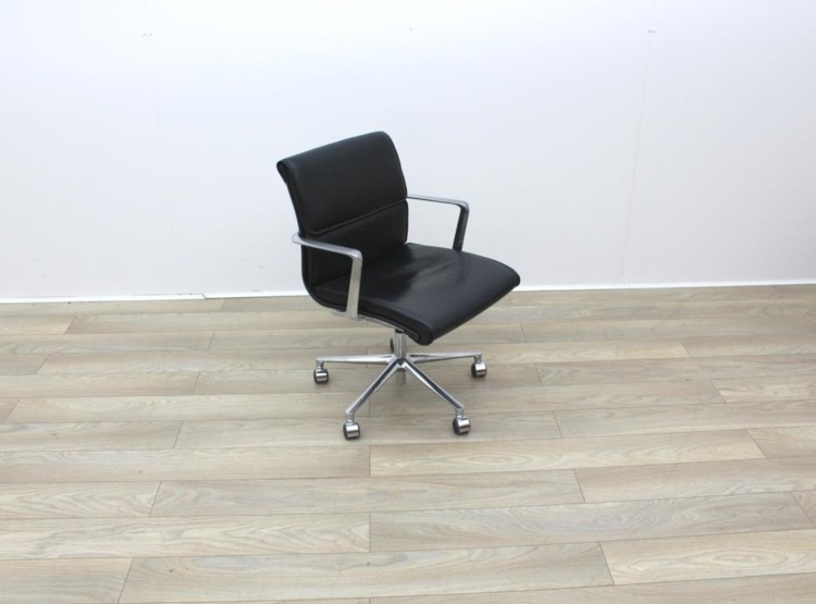 Black Leather ICF Meeting Chairs