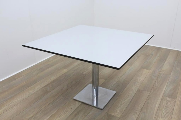 Light Grey Black Edge Square Table