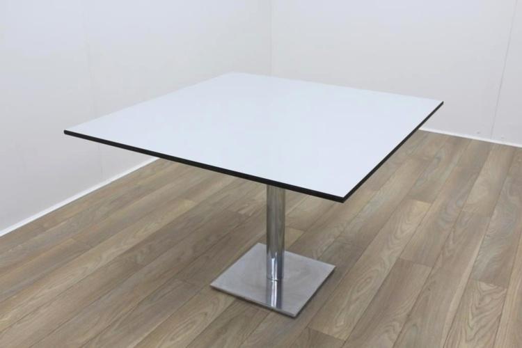 Light Grey Black Edge Square Table