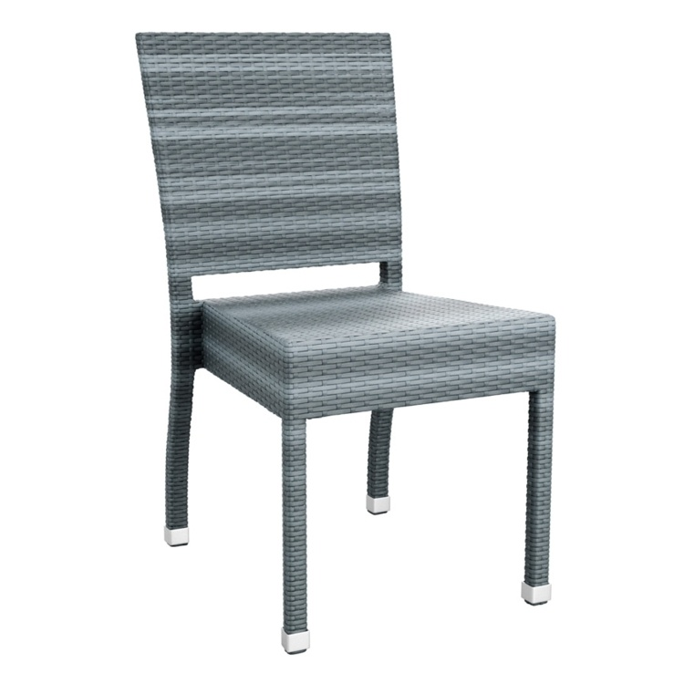 New Grey Wicker Solana Weave Rattan Style Office Garden Canteen Cafe Bistro Arm Chairs