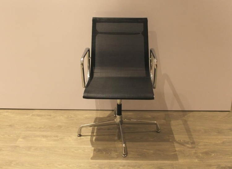 Black Meeting Chairs With Chrome Base