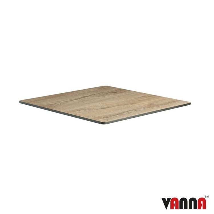 New EXTREMA Aged Wood 690mm Square Table