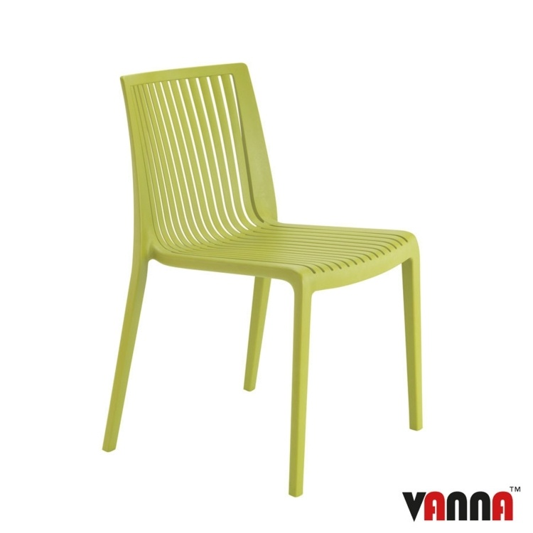New Green Reinforced Polypropylene Stacking Office Canteen Bistro Cafe Chairs