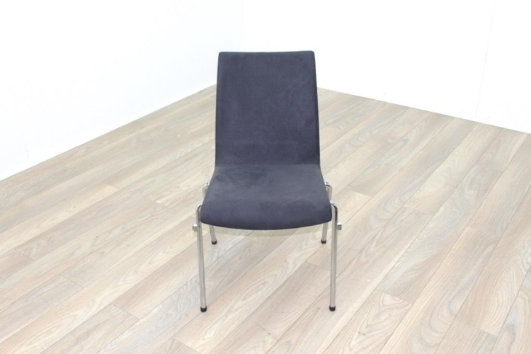 Brunner Grey Velour Meeting Chair