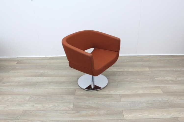 Orange Fabric Tub Chairs
