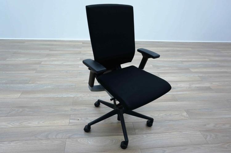 Sidiz T55 Black Fabric / White Multifunction Office Task Chairs