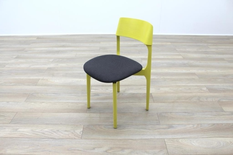 Kusch Co Yellow / Grey Stackable Canteen Office Chairs