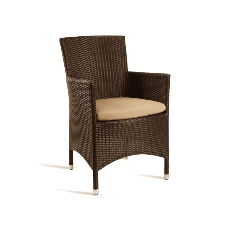 New Brown Mocca Wicker Solana Weave Rattan Style Office Garden Canteen Cafe Bistro Comfort Chairs