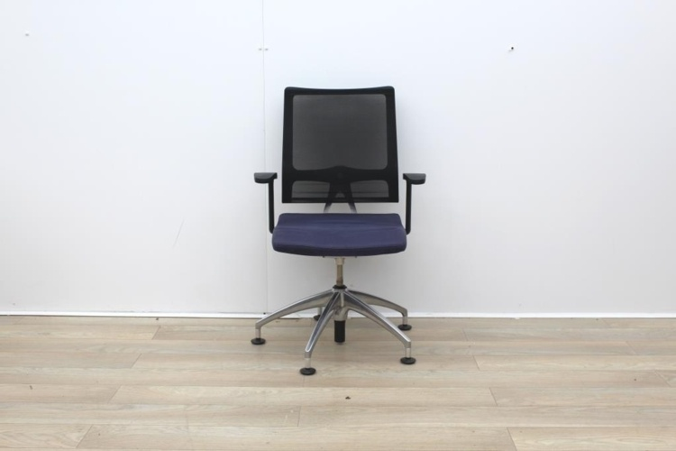 Sedus Meeting Chair With Mesh Back And Chrome Legs