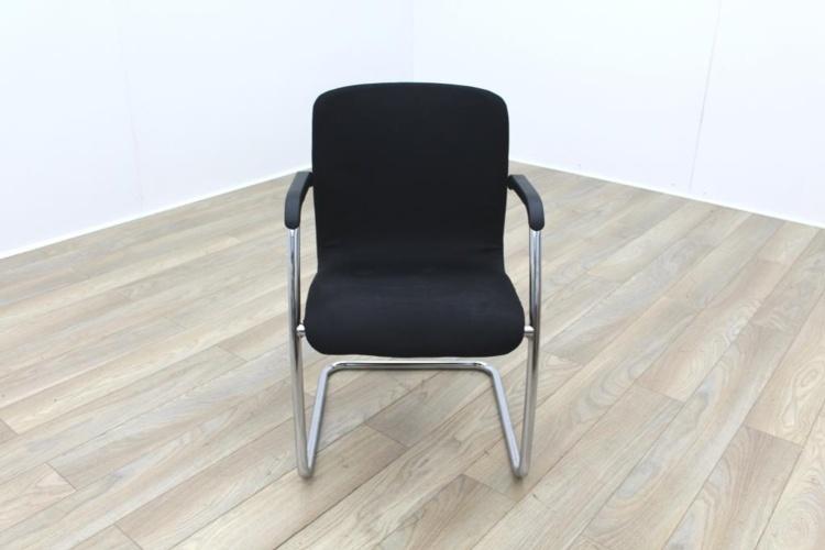 Black Fabric Meeting Chairs