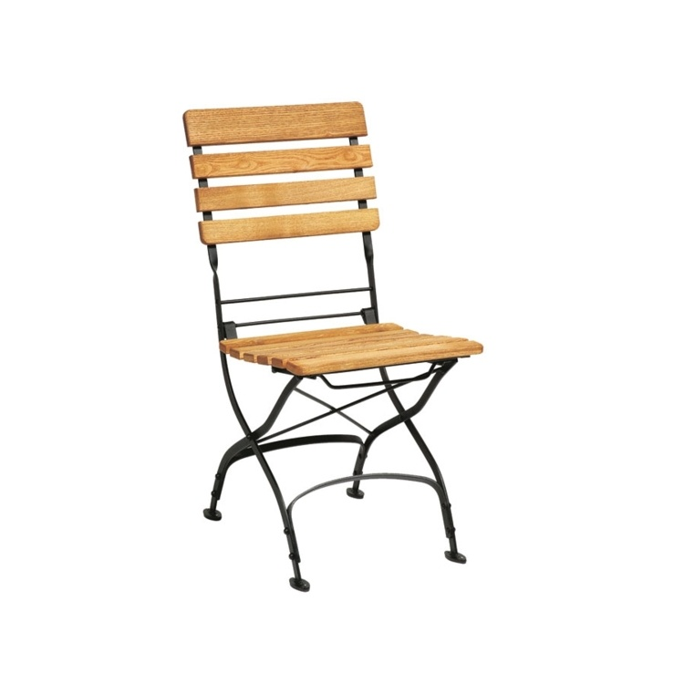 New ARCH Wrought Iron Cafe Bistro Folding Side Chair