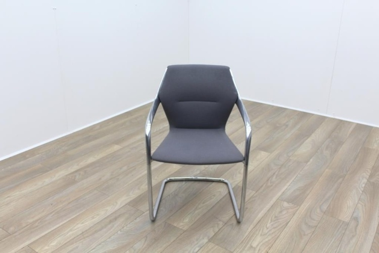 Brunner Grey Fabric Cantilever Meeting Chair