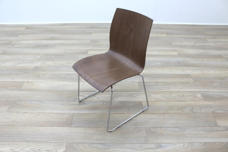 Kusch Co Walnut Stackable Office Canteen Chair