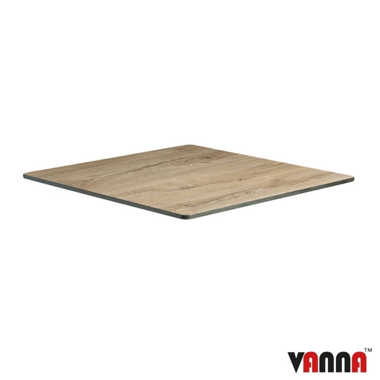 New EXTREMA Aged Wood 790mm Square Table