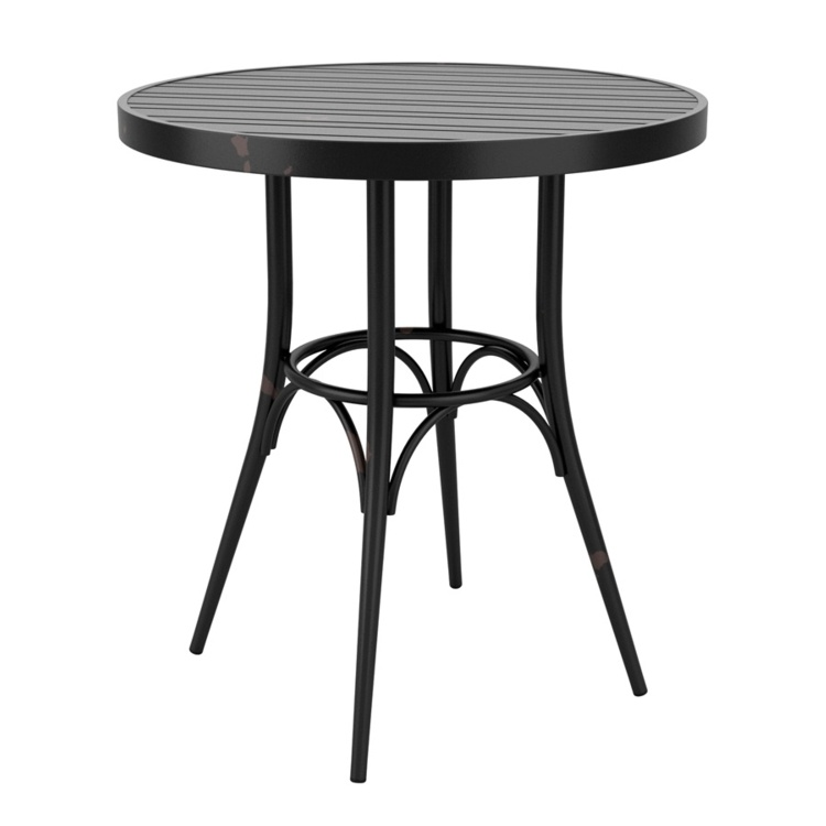 New Cafe Black Aluminium Vintage Finish Canteen Café Round Table