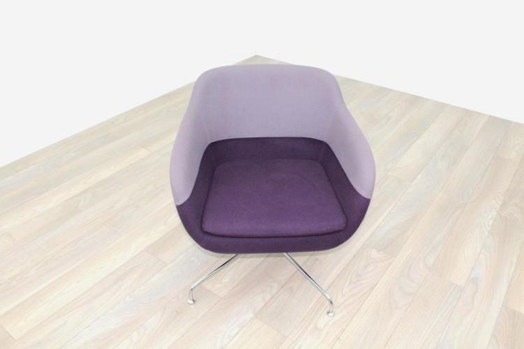 Brunner Light/Dark Purple Fabric Reception Tub Chair