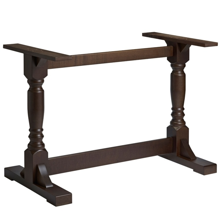 New PORT Dark Walnut Solid Beech Rectangular Table Base