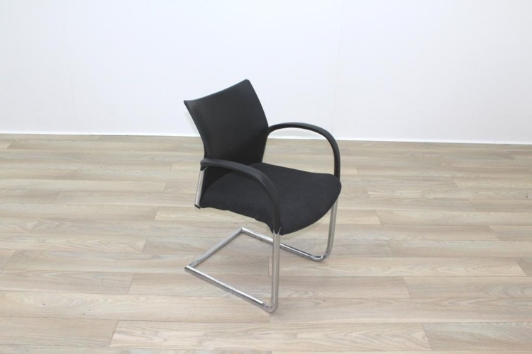Herman Miller Black Fabric Seat Black Polymer Back Office Meeting Chairs