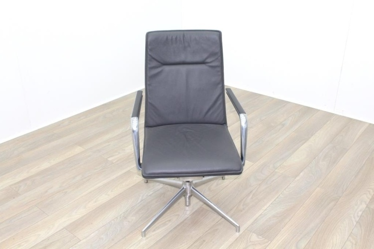 Brunner Dark Grey Leather High Back Executive Chair