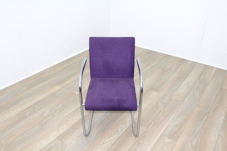 Brunner Purple Velour Meeting Chair