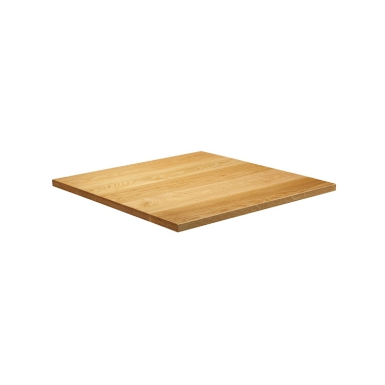 New Natural Lacquered Deluxe 700mm Square Solid Oak Table Top