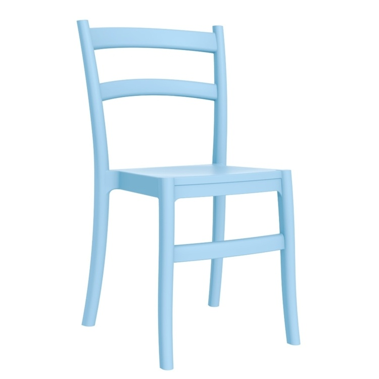 New Light Blue Polypropylene & Glass Fibre Office Canteen Bistro Cafe Side Chairs