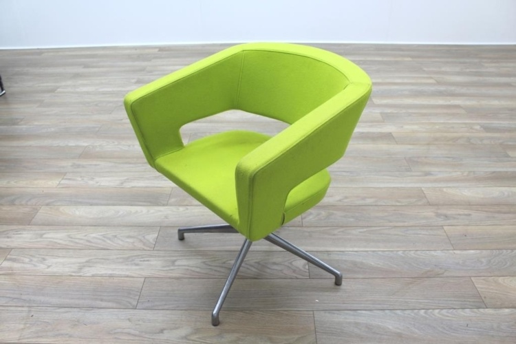 Boss Design Green Fabric Office Reception Tub Chairs