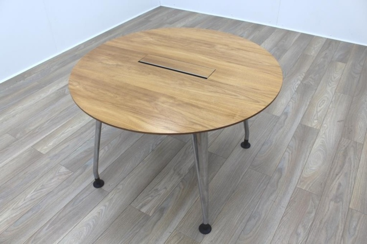 Verco DNA Walnut Circular Office Meeting Table
