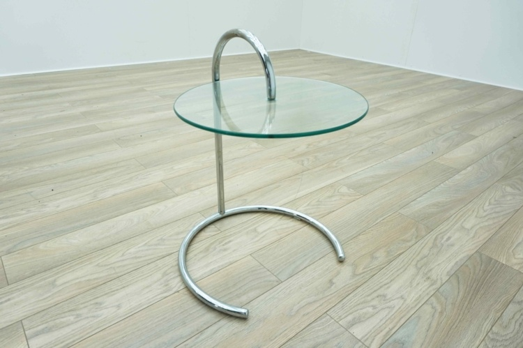 Eileen Gray Style Circular Glass Coffee Table