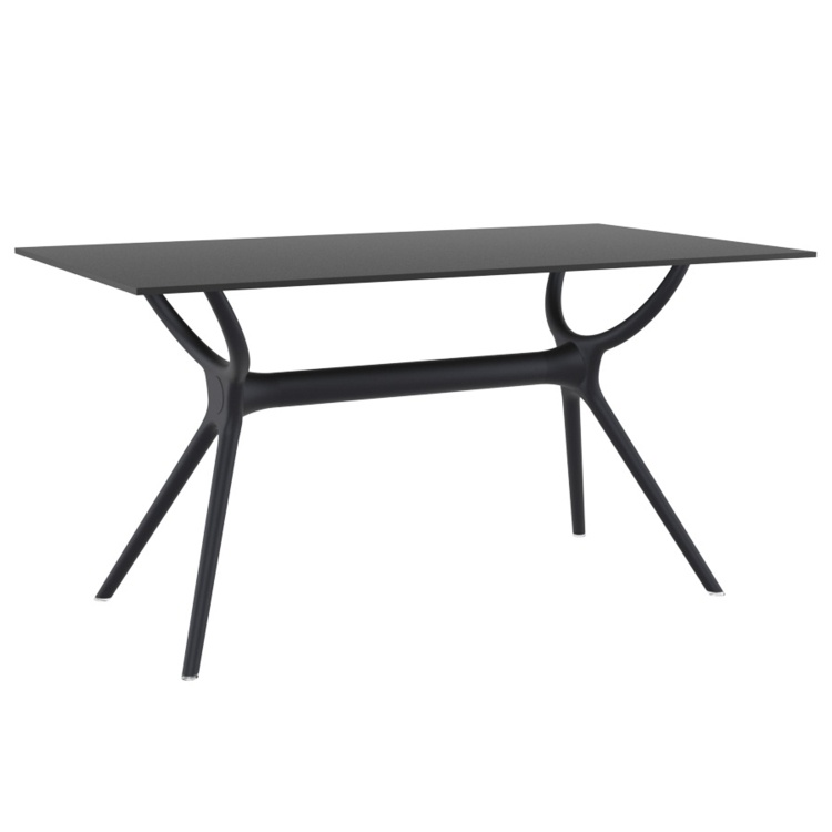 New CITY Black Rectangular Table