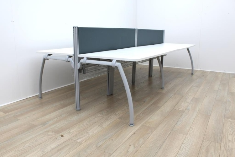 Senator Bench Desk With Grey Screens Available For 4 Persons And 6 Persons