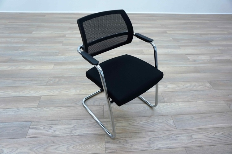Sitland PK Passe Partout Black Mesh Office Meeting Chairs