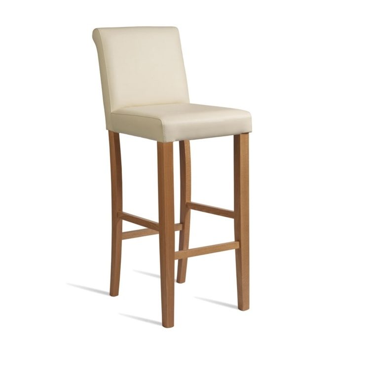 New LYNX Cream Luxurious Upolstered High Quality Faux Leather Bar Stool