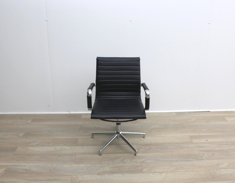 Black Faux Leather Meeting Chairs