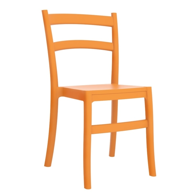 New Orange Polypropylene & Glass Fibre Office Canteen Bistro Cafe Side Chairs