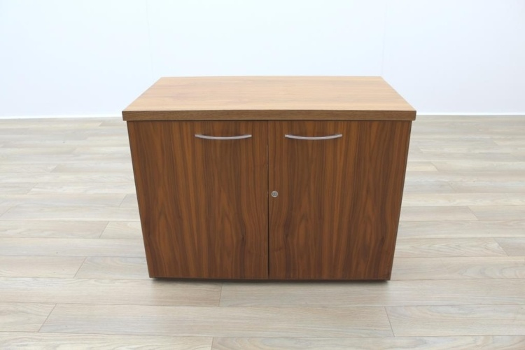 Sven Christiansen Solid Walnut Executive Office Credenza / Storage Cupboard
