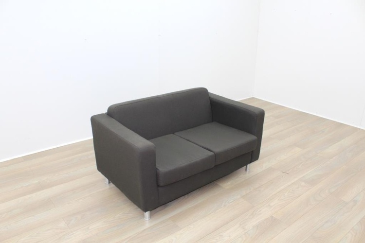 Grey Fabric Office Reception Sofa - Grey