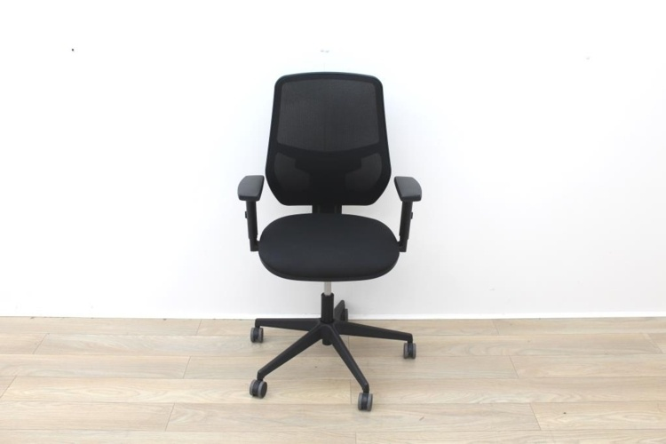Black Operator Chair With Mesh Back And Lumbar Support