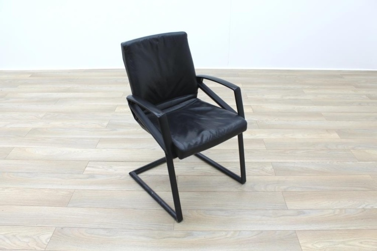 Sitag Black Leather Executive Office Meeting Chairs