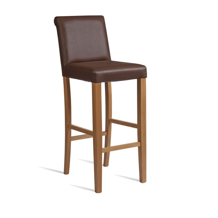 New LYNX Brown Luxurious Upolstered High Quality Faux Leather Bar Stool