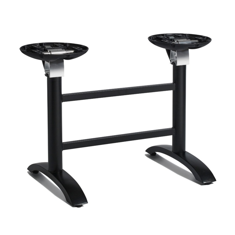 New SPACEGUARD Black Aluminium Flip Top Deluxe Double Table Base