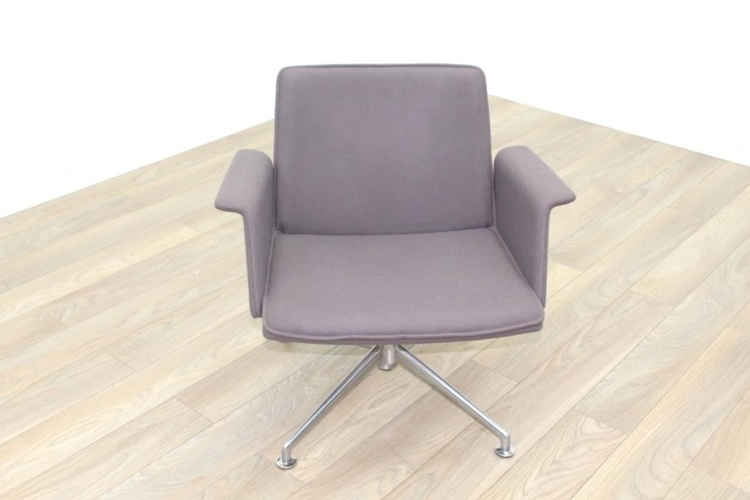 Brunner Grey Fabric Self Centering Meeting/Reception Chair