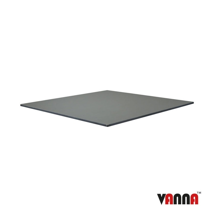 New EXTREMA Anthracite 690mm Square Table