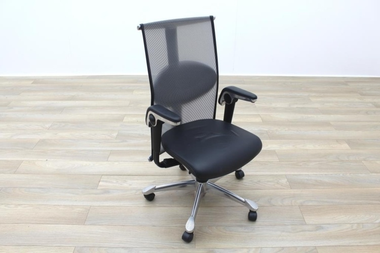 HAG H09 Inspiration Black Leather Polished Aluminium Executive Office ...