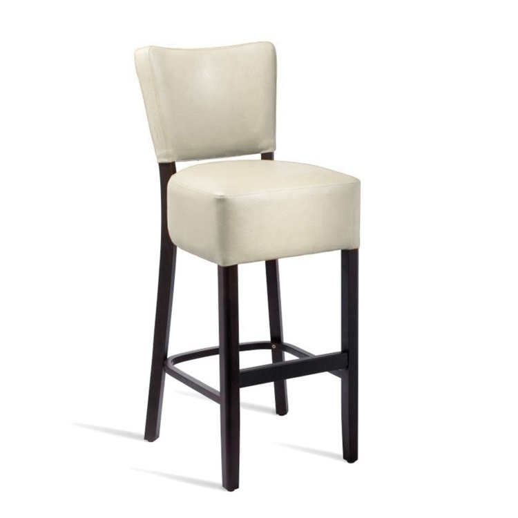 New CLUB Wenge Cream high quality faux leather Luxurious Bar Stool
