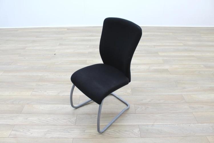 Komac Echo Black Fabric Cantilever Meeting Chair