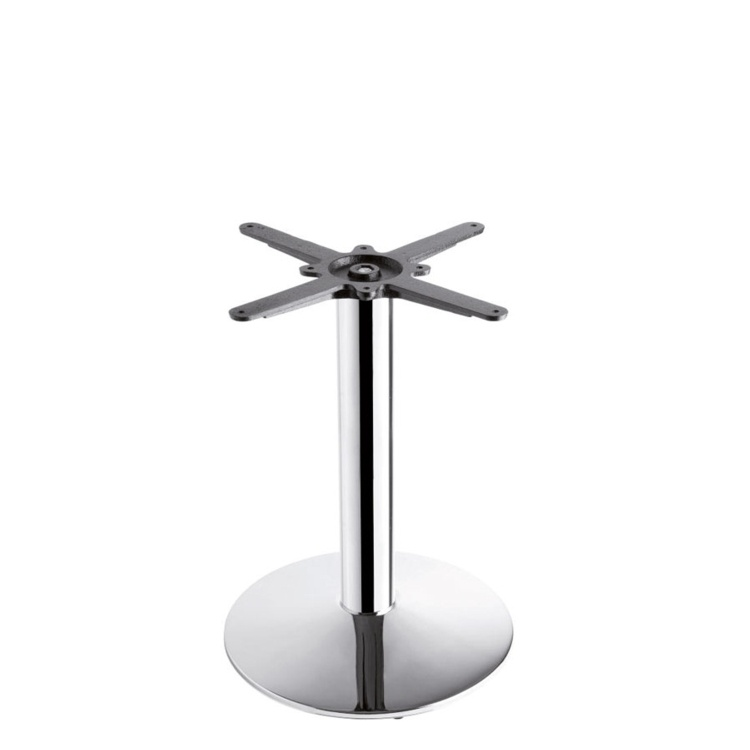 New HAMPTON Chrome Small Round Coffee Table Base