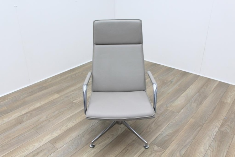 Brunner Light Grey Leather Executive Chair