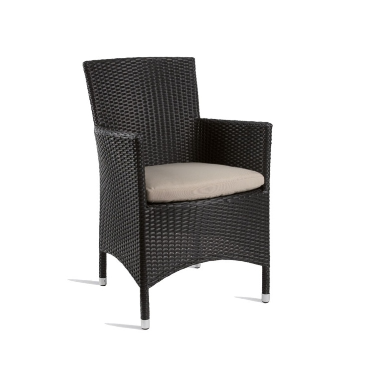 New Black Wicker Solana Weave Rattan Style Office Garden Canteen Cafe Bistro Comfort Chairs