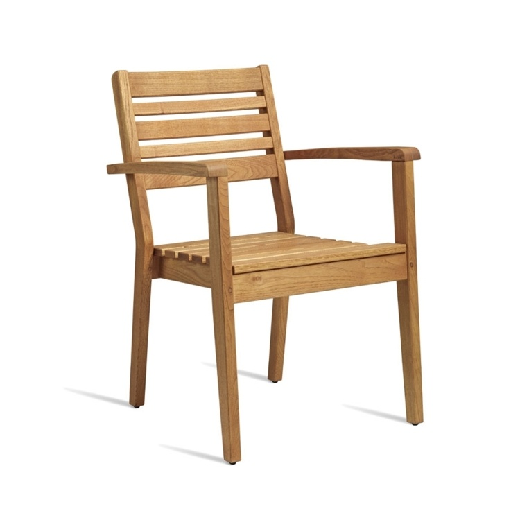 New MORE Robinia Wood Stacking Canteen Cafe Arm Chair